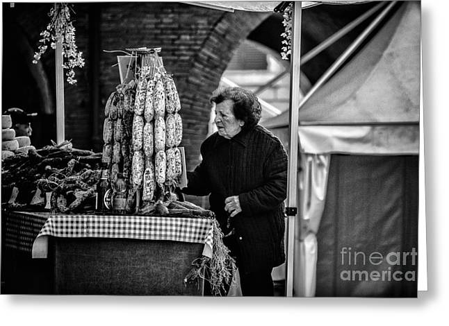 Grocery Store Greeting Cards - Ferrara Greeting Card by Traven Milovich