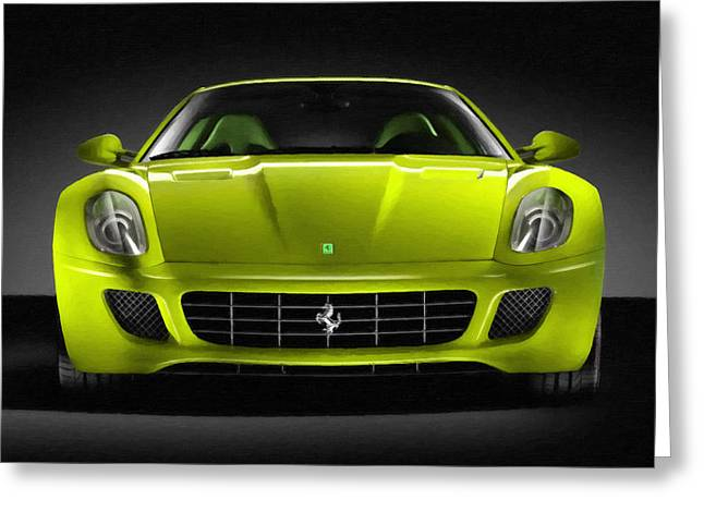 Editorial Paintings Greeting Cards - Ferrari 4 Greeting Card by Lanjee Chee