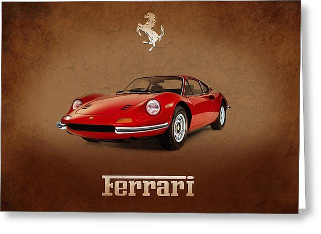 Dino Greeting Cards - Ferrari Dino 246 GT Greeting Card by Mark Rogan
