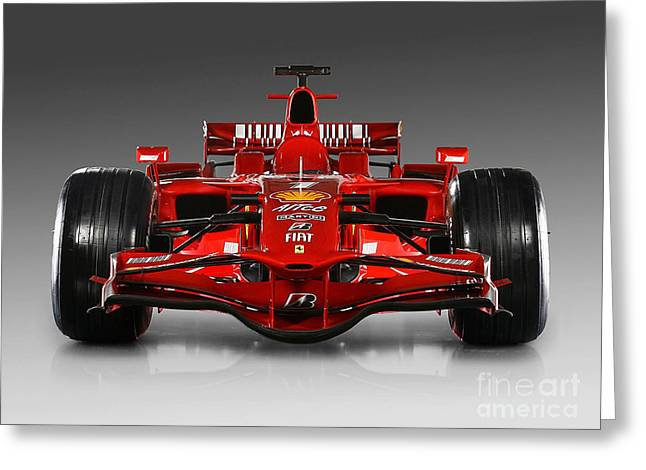 Rusted Cars Mixed Media Greeting Cards - Ferrari F1 Greeting Card by Marvin Blaine