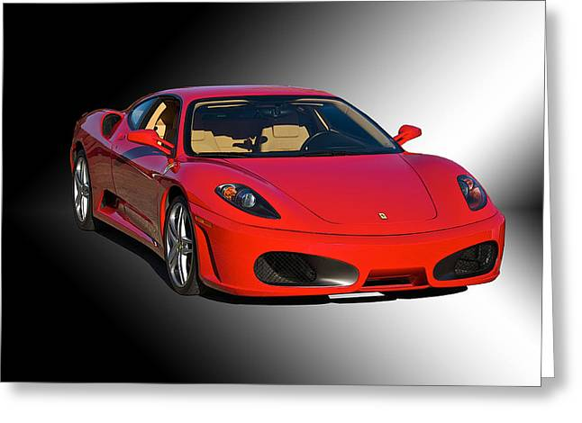 High-performance Luxury Car Greeting Cards - Ferrari F430 Studio Greeting Card by Dave Koontz