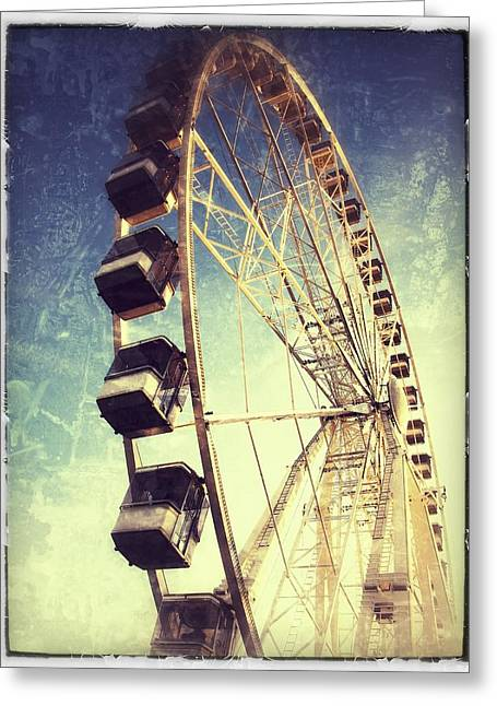 Ferris Wheel Greeting Cards - Ferris wheel in Paris Greeting Card by Marianna Mills