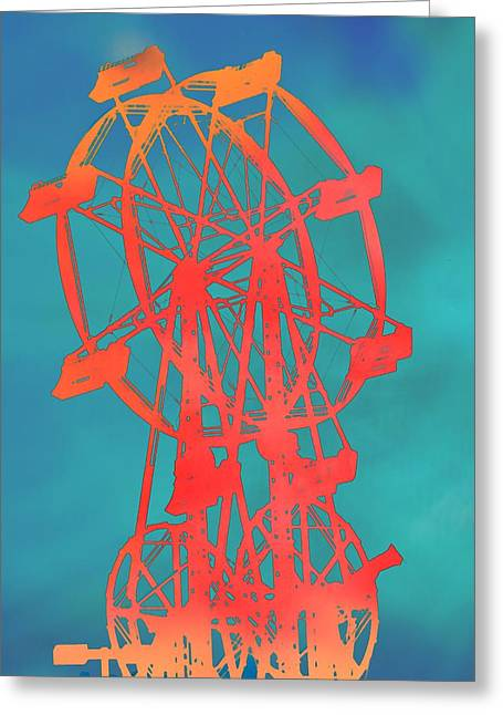 Youth Mixed Media Greeting Cards - Ferris Wheel Pop Art Greeting Card by Dan Sproul