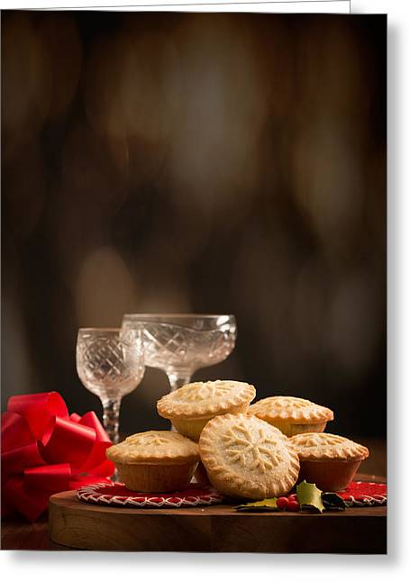 Rack Greeting Cards - Festive Mince Pies Greeting Card by Amanda And Christopher Elwell