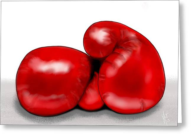 Boxe Greeting Cards - Fight Night  Greeting Card by Mathieu Lalonde