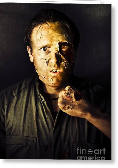 Emotional Gestures Greeting Cards - Fight Of The Living Dead Greeting Card by Ryan Jorgensen