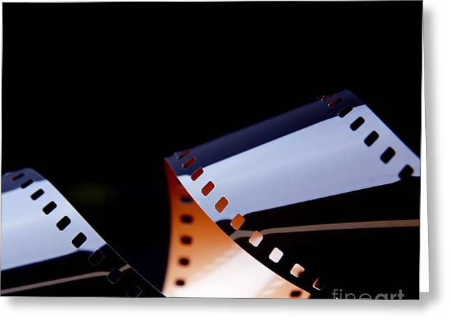 Film Strip Abstract Greeting Card by Tim Hester