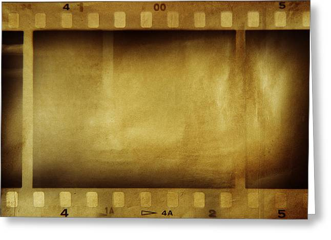 Retro-montage Greeting Cards - Film strips Greeting Card by Les Cunliffe