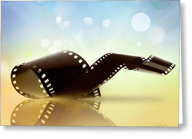 Films Photographs Greeting Cards - Filmstrip  Greeting Card by Les Cunliffe