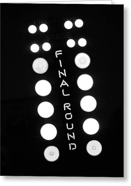 Finals Greeting Cards - Final Round Neon Sign Greeting Card by Jill Reger