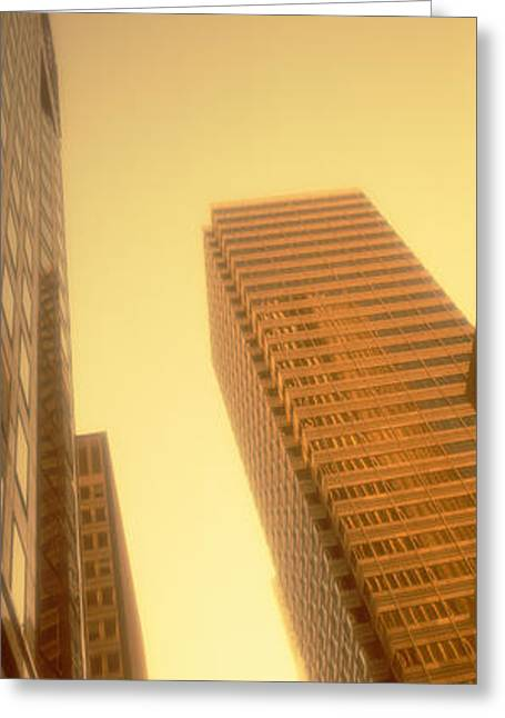 Downtown District Greeting Cards - Financial District, San Francisco Greeting Card by Panoramic Images