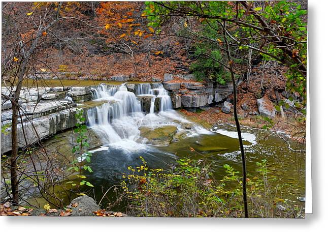Finger Lakes Waterfall Greeting Card by Frozen in Time Fine Art Photography