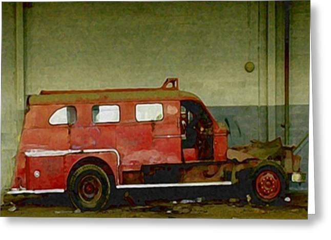 National Guard Mixed Media Greeting Cards - Fire Alarm Greeting Card by Dennis Buckman