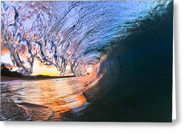 Makena Greeting Cards - Fire And Ice Greeting Card by Sean Davey