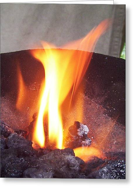 August 22 Greeting Cards - Fire Greeting Card by Ramon Labusch