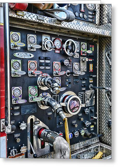 Medical Greeting Cards - Fireman Control Panel Greeting Card by Paul Ward