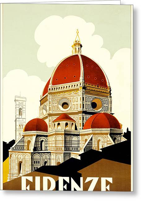 Firenza Greeting Card by Chris Smith