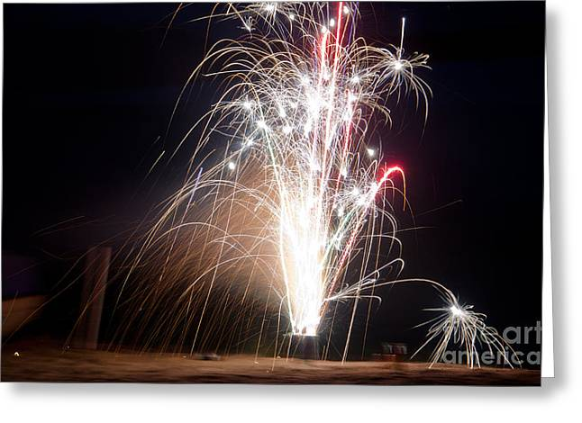 Independance Greeting Cards - Fireworks 9 Greeting Card by Cassie Marie Photography