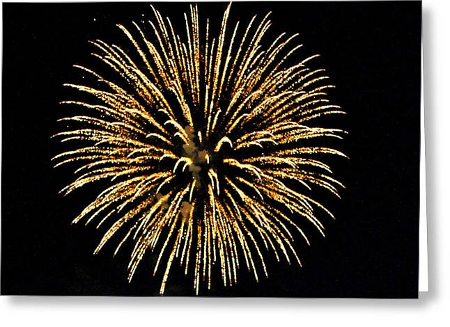 City Scapes Greeting Cards Greeting Cards - Fireworks Greeting Card by Carol Toepke