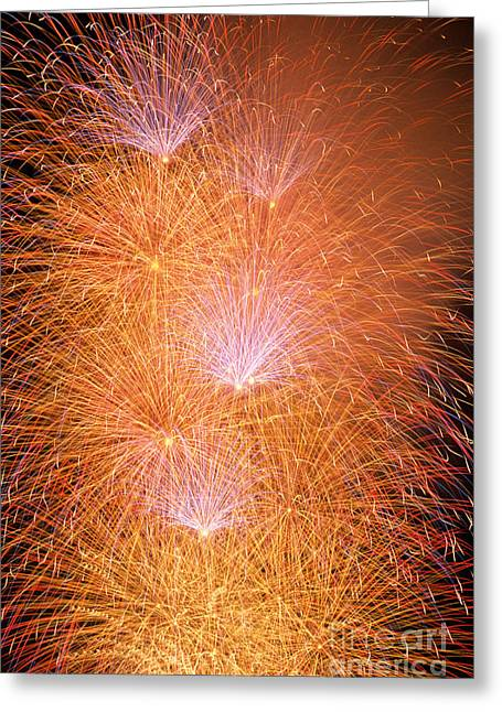 4th July Photographs Greeting Cards - Fireworks Display Greeting Card by Jim Corwin