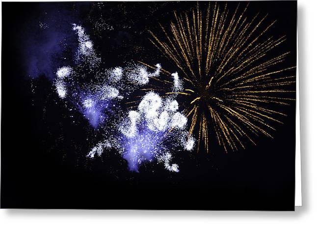 Pyrotechnics Greeting Cards - Fireworks Greeting Card by Modern Art Prints