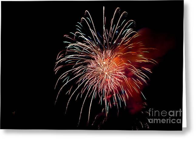 Fireworks Greeting Card by Grace Grogan