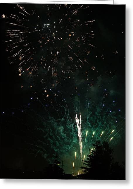 Independance Day Greeting Cards - Fireworks Greeting Card by Michael Chatt