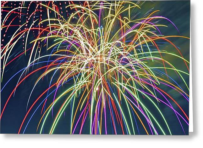 Fireworks Greeting Card by Michael Shake