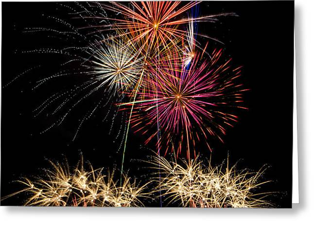 Fireworks  Greeting Card by Saija  Lehtonen