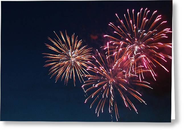 4th July Greeting Cards - Fireworks Series VI Greeting Card by Suzanne Gaff