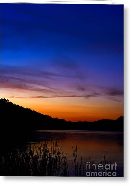 Allegheny Greeting Cards - First Light Big Ditch Lake Greeting Card by Thomas R Fletcher