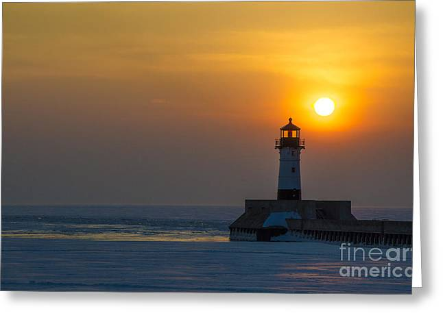 First Sunrise Greeting Card by Ronny Purba