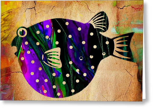 Fish Art Greeting Card by Marvin Blaine