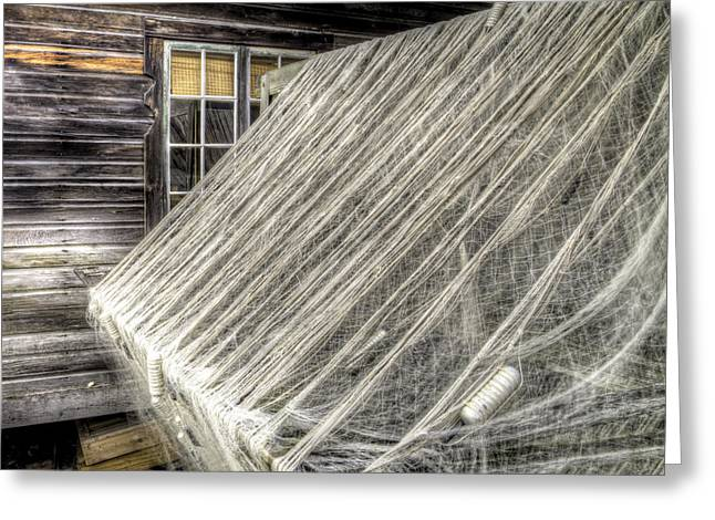 Netting Greeting Cards - Fish Nets Greeting Card by Twenty Two North Photography