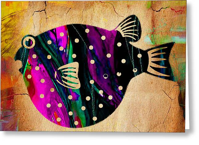 Fish Greeting Cards - Fish Plaque Greeting Card by Marvin Blaine