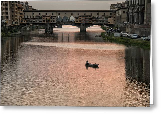Tranquil Scene Escapism Greeting Cards - Fishing at Sunset Greeting Card by Melany Sarafis