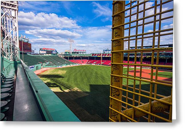 Game 6 Greeting Cards - Fisks Pole and the Green Monster Greeting Card by Tom Gort