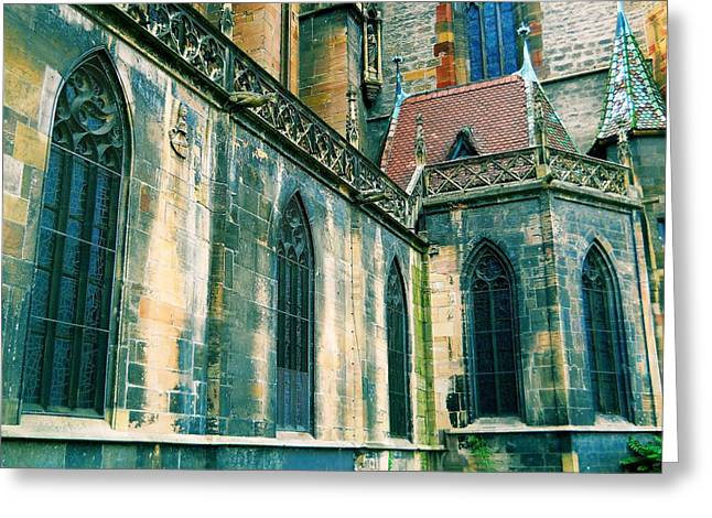 Haut Digital Greeting Cards - Five Window Arches Greeting Card by Maria Huntley