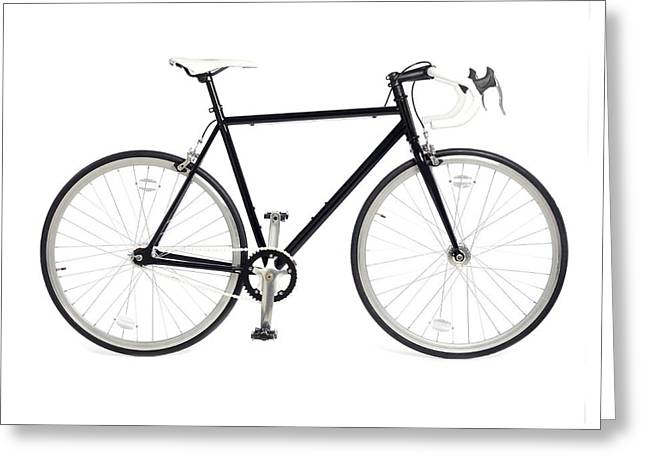 Fixed-gear Road Bike Greeting Card by Science Photo Library