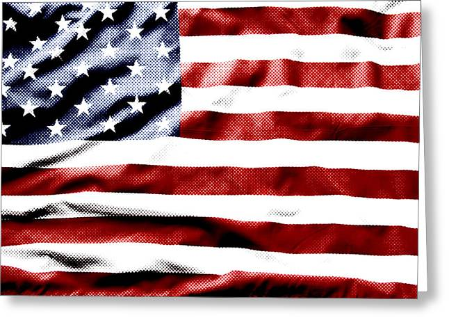 Flag Greeting Card by Les Cunliffe