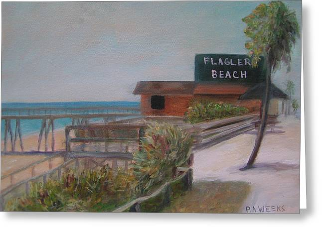 Flagler Beach Greeting Card by Patty Weeks