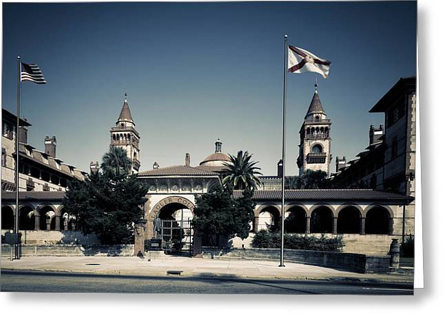 Flagler Greeting Cards - Flagler College - Saint Augustine Florida Greeting Card by Mountain Dreams