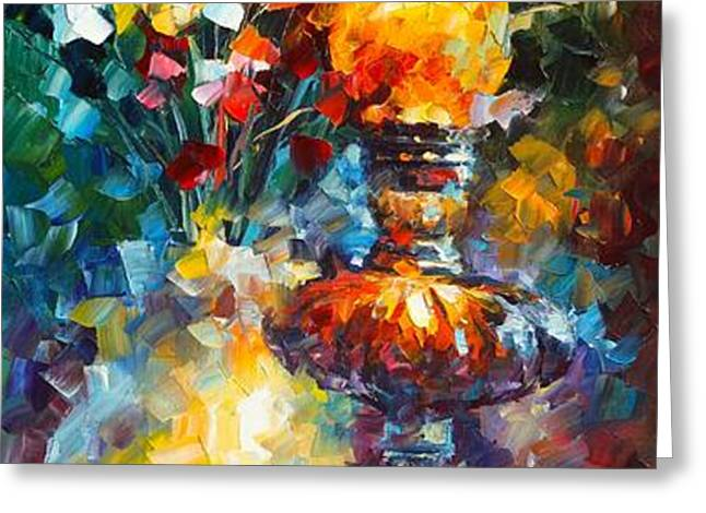 FLAME Greeting Card by Leonid Afremov