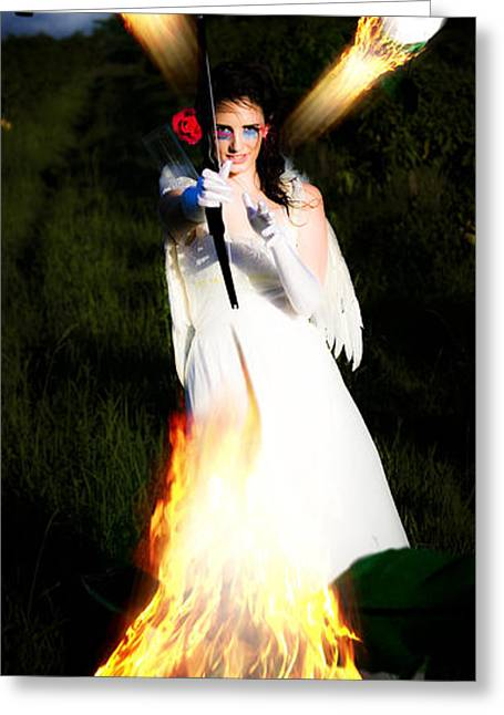 Engulfing Greeting Cards - Flame Of Desire Greeting Card by Ryan Jorgensen
