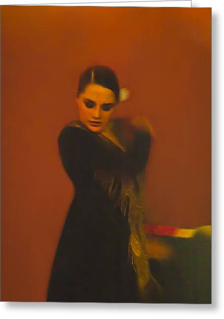 Duende Greeting Cards - Flamenco Series 2 Greeting Card by Catherine Sobredo
