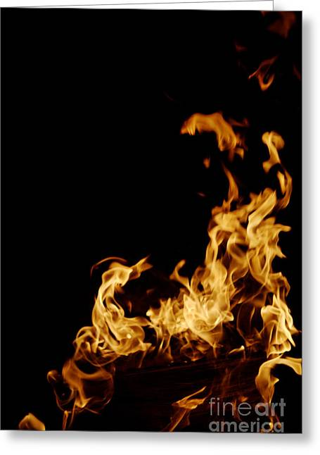 Flames Greeting Card by Lawrence Lawry