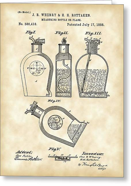 Flask Patent 1888 - Vintage Greeting Card by Stephen Younts