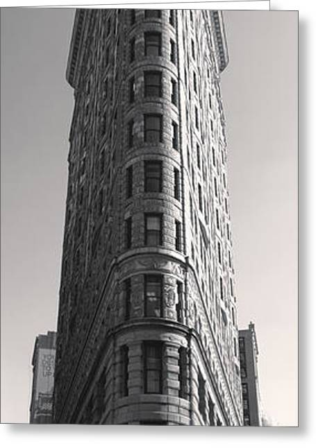 Gregory Dyer Greeting Cards - Flat Iron Building Greeting Card by Gregory Dyer