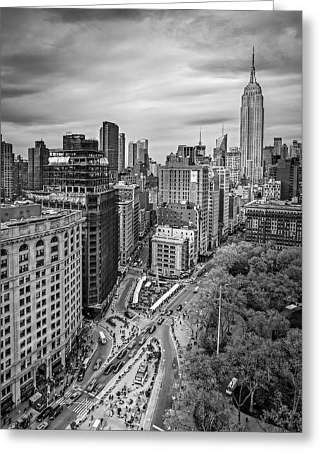 Flatiron District And The Empire State Building Greeting Card by Susan Candelario