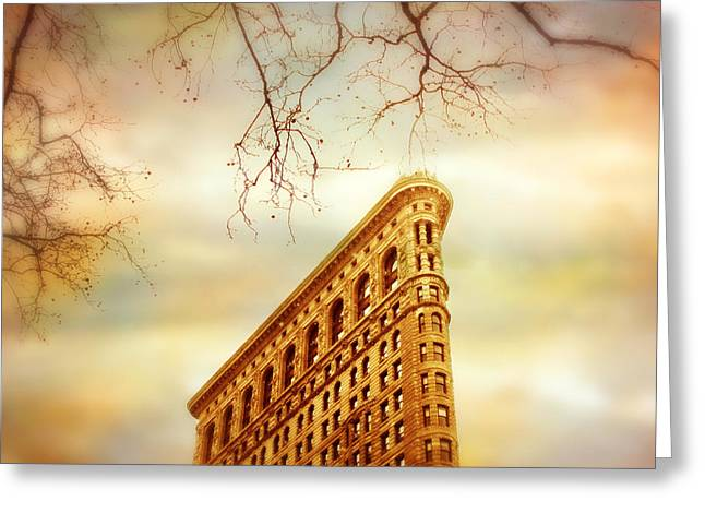 Historical Buildings Digital Art Greeting Cards - Flatiron Framing Greeting Card by Jessica Jenney